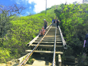 NINA WU / NWU@STARADVERTISER.COM                                 Koko Crater stairs is seen in this undated photo. The Honolulu City Council has passed a resolution urging Mayor Kirk Caldwell to make $100,000 available for immediate repairs to stairs.