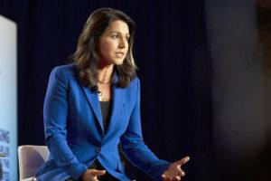 ASSOCIATED PRESS                                 Rep. Tulsi Gabbard appeared in Iowa in June. Gabbard's fellow Democrats are nervous that she will mount a third-party bid for president.