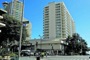 JAMM AQUINO/JAQUINO@STARADVERTISER.COM                                 The Modern Honolulu hotel is seen in Waikiki in May.