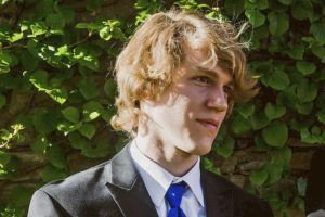 MATTHEW WESTMORELAND VIA AP                                 This undated file photo provided by Matthew Westmoreland shows Riley Howell. The North Carolina college student hailed by police as a hero for preventing more injuries and deaths after a gunman opened fire in a classroom in April 2019 has been immortalized as a Jedi by the production company for the Star Wars franchise.