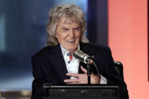 "ASSOCIATED PRESS                                 In this May 29, 2015 file photo, Cable television and radio personality Don Imus appears on his last ""Imus in the Morning"" program, on the Fox Business Network, in New York. Disc jockey Don Imus, whose career was made and then undone by his acid tongue during a decades-long rise to radio stardom and an abrupt public plunge after a nationally broadcast racial slur, has died today. He was 79."