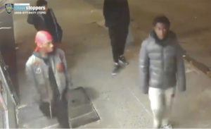 NYPD VIA AP This still image taken from surveillance video provided by NYPD shows suspects in connection to a mugging of a 60-year-old man on Tuesday, Dec. 24, in the the Morrisania neighborhood of the Bronx in New York. Juan Fresnada died Friday, Dec. 27, at the Bronx hospital where he was taken in critical condition after the mugging early Tuesday, the New York Police Department said. Officers have released surveillance photos and videos in hopes of pinpointing suspects.
