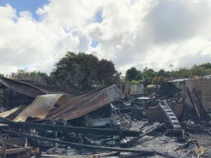 COURTESY KAUAI FIRE DEPARTMENT                                 The fire resulted in the total loss of the home, according to the Kauai Fire Department, with damages to the structure and contents estimated at roughly $420,000.