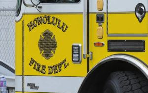 STAR-ADVERTISER FILE                                 Honolulu firefighters evacuated an area at Campbell Industrial Park due to a chemical odor emanating from a power plant this morning.