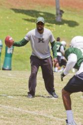 Dennis Oda / 2015                                 Abe Elimimian is a former Rainbow Warrior who joined the UH staff as an assistant in 2015.