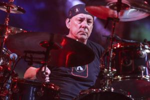 RICH FURY/INVISION/ASSOCIATED PRESS                                 Neil Peart of Rush performed during the final show of the R40 Tour, in Aug. 2015, in Los Angeles. Peart, the renowned drummer and lyricist from the band Rush, has died.