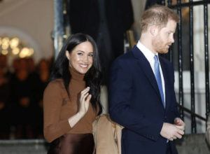 ASSOCIATED PRESS                                 Britain's Prince Harry and Meghan, Duchess of Sussex left, Jan. 7, after visiting Canada House in London, after their recent stay in Canada. As Prince Harry and Meghan step back as senior royals, questions linger over the role race has played in her treatment in Britain.