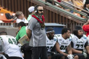 ASSOCIATED PRESS Hawaii coach Nick Rolovich watches during the first half of the team's Hawaii Bowl game against BYU on Dec. 24.