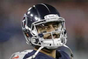 ASSOCIATED PRESS / NOV. 24                                 Marcus Mariota looks at the scoreboard in the second half of a game against the Jacksonville Jaguars in Nashville, Tenn.