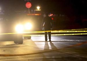 STEVE GRIFFIN/THE DESERET NEWS VIA AP                                 Police investigate after four people were killed and fifth person was injured in a shooting at a Grantsville, Utah, home. The suspected shooter was taken into custody by Grantsville police, the Deseret News reported. Grantsville Mayor Brent Marshall said the victims and the shooter are all related, the newspaper reported.