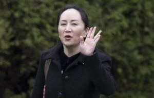 JONATHAN HAYWARD/THE CANADIAN PRESS VIA ASSOCIATED PRESS                                 Meng Wanzhou, chief financial officer of Huawei, left her home in Vancouver, today. A court hearing began today in Vancouver over the American request to extradite an executive of the Chinese telecom giant Huawei on fraud charges.