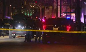 KSAT VIA ASSOCIATED PRESS                                 San Antonio police officers worked the scene of a deadly shooting at the Ventura, a music venue in San Antonio, Texas, on Sunday.