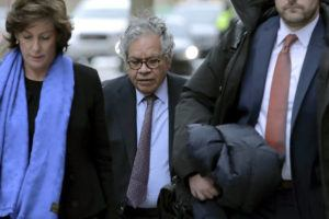 ASSOCIATED PRESS                                 Insys Therapeutics founder John Kapoor arrives for sentencing at federal court today in Boston. Kapoor was convicted in a bribery and kickback scheme that prosecutors said helped fuel the opioid crisis. He and others in the company were accused of paying millions of dollars in bribes to doctors across the nation to prescribe the company's highly addictive fentanyl spray, known as Subsys.