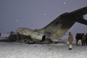 ASSOCIATED PRESS                                 A wreckage of a U.S. military aircraft that crashed in Ghazni province, Afghanistan, was seen Monday.