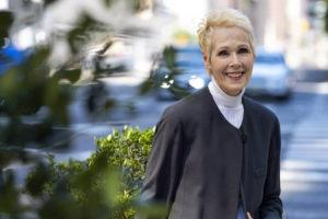 ASSOCIATED PRESS                                 E. Jean Carroll, on June 23, in New York. Lawyers for Carroll, who accused President Donald Trump of raping her in the 1990s, are asking for a DNA sample, seeking to determine whether his genetic material is on a dress she says she wore during the encounter.