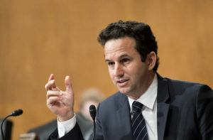 ASSOCIATED PRESS                                 Sen. Brian Schatz, D-Hawaii, asks a question during a hearing in Washington D.C. on Dec. 10, 2019. Schatz and Sen. Tim Kaine have introduced a War Powers Resolution in an attempt to force a debate and vote in Congress to prevent further escalation of hostilities with Iran.