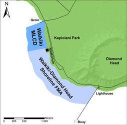 COURTESY DLNR                                  Waikiki-Diamond Head Shoreline Fisheries Management Area