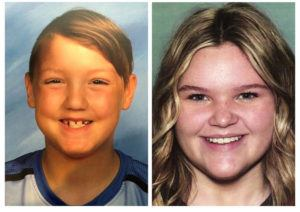 "ASSOCIATED PRESS                                 This combination photo of undated file photos, released by National Center for Missing & Exploited Children, shows missing children Joshua ""JJ"" Vallow, left, and Tylee Ryan."