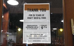 BRUCE ASATO / BASATO@STARADVERTISER.COM                                 Gordon Biersch at Aloha Tower Marketplace closed its doors after 26 years of operation on Sunday.