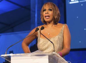 "ASSOCIATED PRESS ""CBS This Morning"" host Gayle King speaking at the 2016 Art For Life Benefit in Water Mill, N.Y."