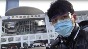 COURTESY OF CHEN QIUSHI VIA AP                                 In this image from video taken Feb. 4, Chinese citizen journalist Chen Qiushi speaks in front of a convention center-turned makeshift hospital amid a viral epidemic in Wuhan in central China's Hubei province.