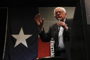 ASSOCIATED PRESS                                 Democratic presidential candidate Sen. Bernie Sanders I-Vt. speaks at a campaign event in El Paso, Texas, on Saturday.