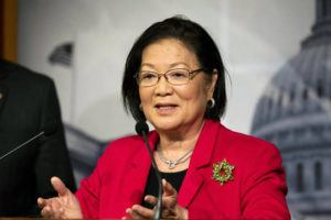 ASSOCIATED PRESS                                 U.S. Senator Mazie Hirono (D-HI), Jan. 30, discussed the Senate impeachment trial. Hirono this morning said President Donald Trump is a danger to the nation, and she will vote to impeach him later today.