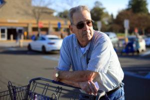 NEW YORK TIMES                                 Rick Lodwick in a parking lot while out shopping for supplies in Vacaville, Calif. on Thursday. Lodwick lives in Solano County, where a woman tested positive for the coronavirus without a known explanation.