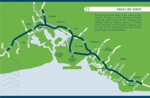 COURTESY HAWAII DEPARTMENT OF TRANSPORTATION                                 This map shows the areas covered by the Freeway Service Patrol in blue.