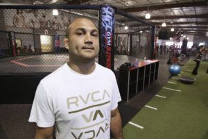 STAR-ADVERTISER / 2012                                 BJ Penn at his UFC Gym in Kakaako. Hawaii County police said former mixed martial arts champion BJ Penn was injured in a one-vehicle accident after his truck lost control and flipped over Friday night on Highway 11 in Hilo.