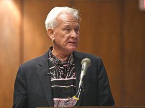 BRUCE ASATO / JAN. 15                                 Honolulu Mayor Kirk Caldwell presents his testimony to state lawmakers.