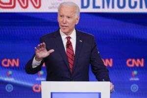 ASSOCIATED PRESS                                 Former Vice President Joe Biden participates in a Democratic presidential primary debate at CNN Studios in Washington on Sunday.