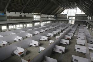 ASSOCIATED PRESS                                 An emergency hospital is set up with nine hundreds beds for coronavirus infected patients, in the Expo Center, Lahore, Pakistan. The virus causes mild or moderate symptoms for most people, but for some, especially older adults and people with existing health problems, it can cause more severe illness or death.