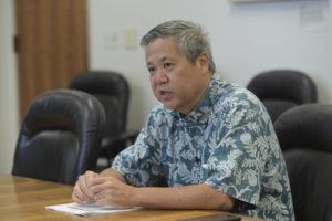 BRUCE ASATO / JULY 9                                 House Speaker Scott Saiki and Bank of Hawaii President Peter Ho will be co-chairmen of the panel.