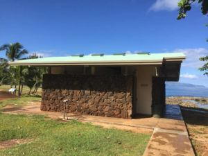 COURTESY HONOLULU DEPARTMENT OF PARKS AND RECREATION                                 This photo shows the restrooms at Pupukea Beach Park on Oahu's North Shore. An advocacy group says 54 of 60 park restrooms remained closed Wednesday despite the city saying all would be reopened amid widespread shutdown of Oahu facilities due to the coronavirus outbreak.