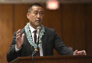 BRUCE ASATO / JAN. 15                                 Kauai Mayor Derek Kawakami