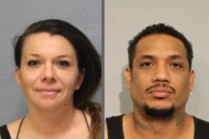 COURTESY HAWAII COUNTY POLICE DEPARTMENT                                 Elaine Abbott, left, and Sinbad Mareko have been charged with breaking into a home in South Kohala.