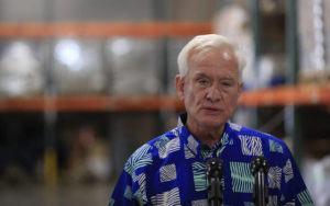 JAMM AQUINO / JAQUINO@STARADVERTISER.COM                                 Honolulu Mayor Kirk Caldwell speaks during a news conference on Friday.