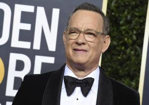 ASSOCIATED PRESS                                 Tom Hanks arrives at the 77th annual Golden Globe Awards at the Beverly Hilton Hotel in Beverly Hills, Calif., in January. For the first time in its lengthy history, 'Saturday Night Live' held an all-quarantine version, which aired Saturday, April 11 with stars delivering taped material primarily from their homes. Coronavirus pioneer Hanks was the guest host, with Chris Martin the musical guest and cameos from Larry David portraying Bernie Sanders and Alec Baldwin as President Donald Trump.