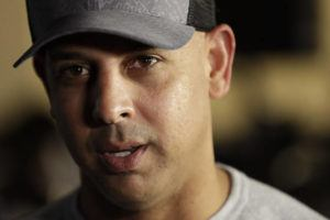 ASSOCIATED PRESS                                 Then-Boston Red Sox manager Alex Cora speaks during the Major League Baseball winter meetings in San Diego in December 2019. The Boston Red Sox were stripped of their second-round pick in this year's amateur draft by Major League Baseball for breaking video rules in 2018 and former manager Alex Cora was suspended through the 2020 postseason for his conduct as bench coach with the Houston Astros the previous year.