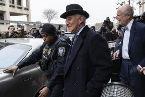 ASSOCIATED PRESS / FEBRUARY 20                                 Roger Stone departed federal court in Washington.