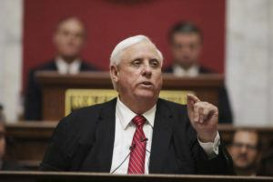 ASSOCIATED PRESS                                 West Virginia Gov. Jim Justice delivers his annual State of the State address in the House Chambers at the state capitol, in Charleston, W.Va., in January.
