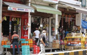 ASSOCIATED PRESS                                 View of general merchant shops during lockdown to prevent the spread of new coronavirus in Prayagraj, India.