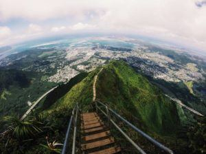 COURTESY BRITTNEE YEE                                 The Honolulu Board of Water Supply voted unanimously Monday night to accept a plan by Mayor Kirk Caldwell to acquire more than 200 acres surrounding the Haiku Stairs from BWS and have the attraction managed by a contractor.