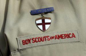 ASSOCIATED PRESS FILES                                 A close up detail of a Boy Scout uniform worn