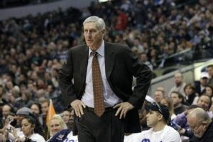 ASSOCIATED PRESS / 2010 Utah Jazz head coach Jerry Sloan is shown during an NBA basketball game against the Dallas Mavericks in Dallas. The Utah Jazz have announced that Jerry Sloan, the coach who took them to the NBA Finals in 1997 and 1998 on his way to a spot in the Basketball Hall of Fame, has died.