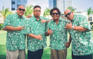 COURTESY DANNY KENNEDY                                 From left, Kaulana Pakele, Frank Sua, Kaiea Chung and Danny Kennedy of Mana'o Company.