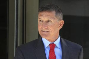 ASSOCIATED PRESS / JULY 2018                                 Former Trump national security adviser Michael Flynn left the federal courthouse in Washington, following a status hearing. The Justice Department today said it is dropping the criminal case against President Donald Trump's first national security adviser, Michael Flynn, abandoning a prosecution that became a rallying cry for Trump and his supporters in attacking the FBI's Russia investigation.