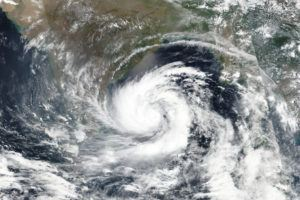 NASA VIA ASSOCIATED PRESS                                 Cyclone Amphan is seen Sundayover the Bay of Bengal in India. Amphan has intensified into a super cyclone and expected to make landfall near Sundarbans, south of Kolkata Wednesday.