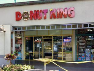 NINA WU / NWU@STARADVERTISER.COM                                 Donut King opened its second location on Oahu this morning at Kailua Shopping Center, 600 Kailua Road.